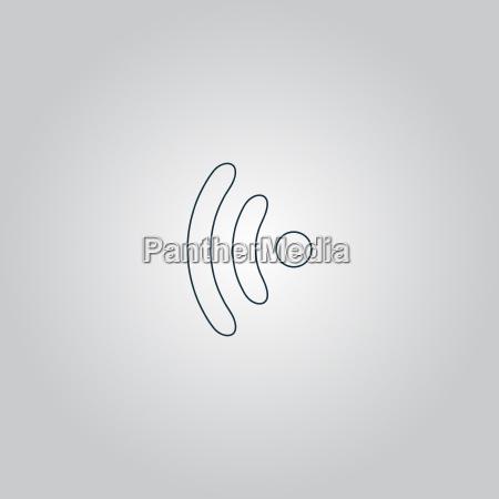 wireless icon vector illustration flat design