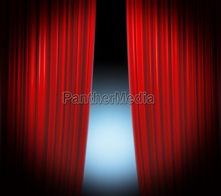 red curtain highlight