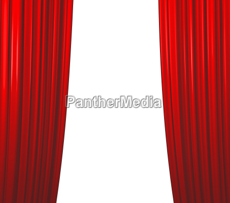 red curtain closing