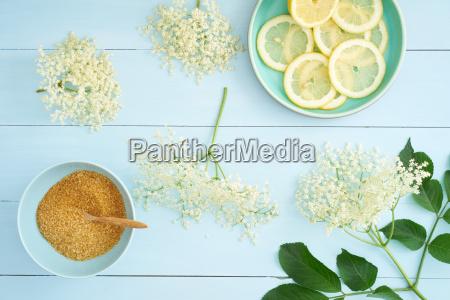 ingredients, for, elderflower, syrup - 14387031