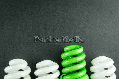 energy saving light bulbs business concept