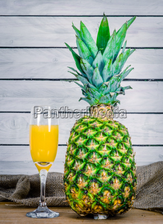 juice from a pineapple