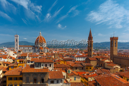 duomo and bargello in florence italy