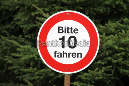 sign speed limit 10 kmh