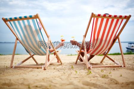 sunbathers toasting