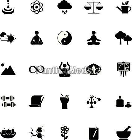 zen, concept, icons, on, white, background - 14407931