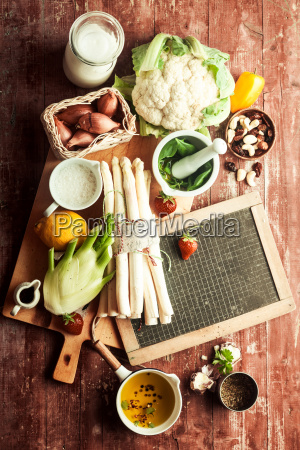fresh ingredients for delicious vegetarian cuisine