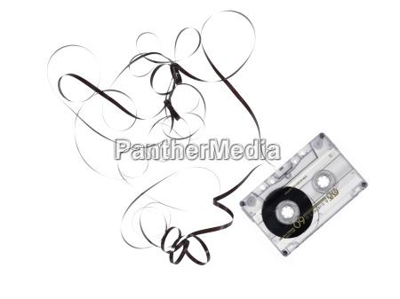 obsolete music tapes broken isoalated