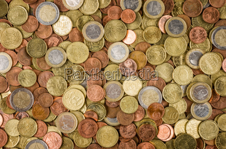 background with many euro coins
