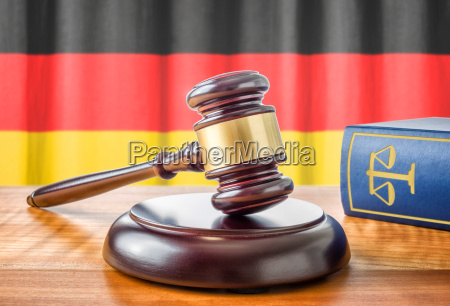 gavel and law book germany