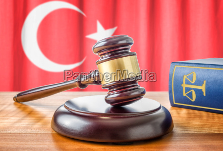 gavel and law book turkey