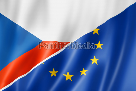czech republic and europe flag
