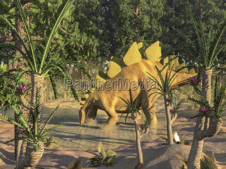 stegosaurus dinosaur 3d render