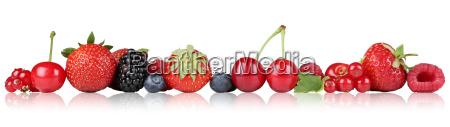 berries fruits strawberries raspberries cherries in