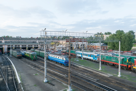 railroad depot for repair and maintenance