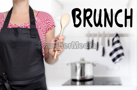 brunch of cooks holding spoon