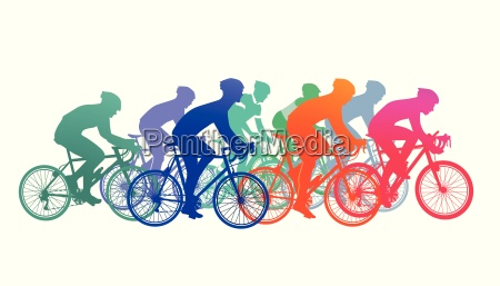 group of cyclists in the bike