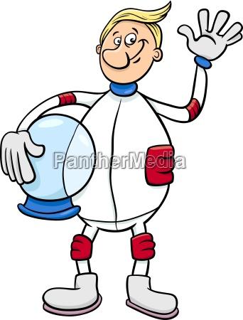 astronaut character cartoon illustration