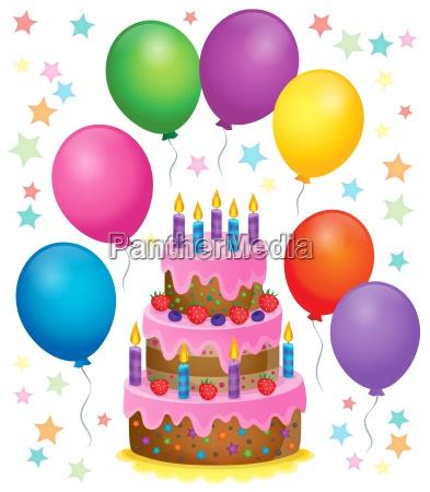 birthday cake theme image 4
