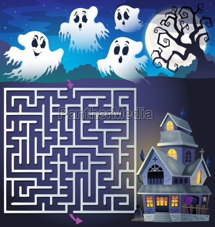 maze 3 with ghosts and haunted