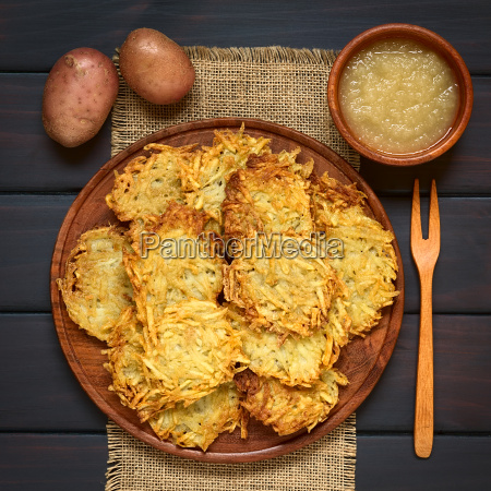 potato pancake or fritter with apple