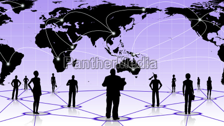 global connection of human social business