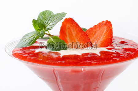 strawberry, puree, with, cream - 14460747