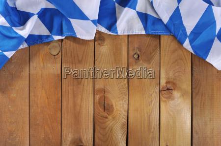 bavarian flag on wooden boards