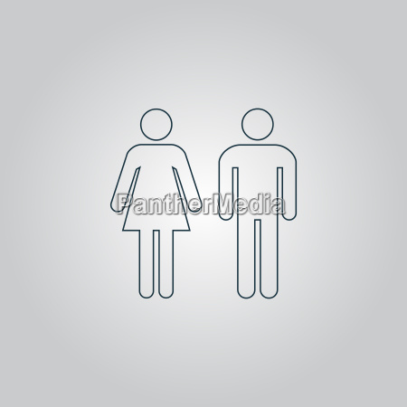 man and woman icons toilet sign