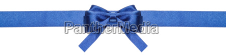 blue ribbon and symmetric bow with