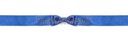 symmetric blue bow knot on narrow