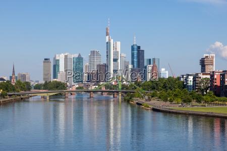 skyline of frankfurt main hesse germany