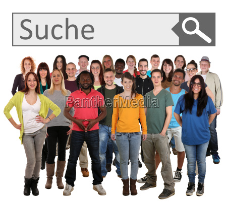 large people group young people search