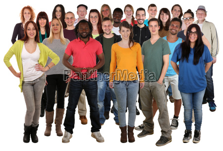 large people group young people