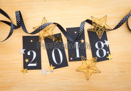 2018 glitter decoration