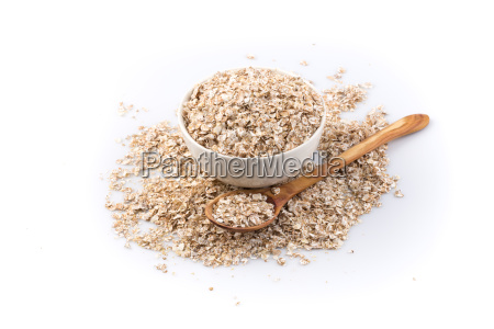 oat flakes for breakfast isolated on