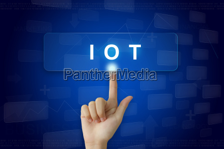 hand press on iot or internet