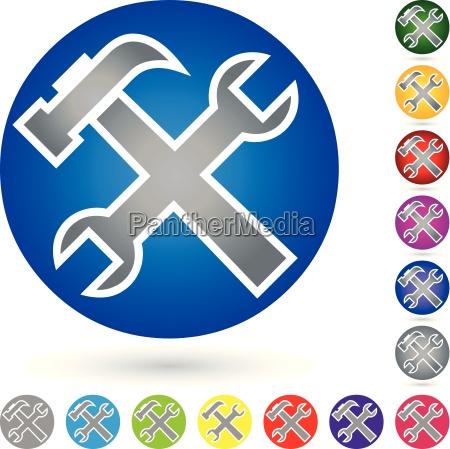 tool logo locks button
