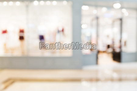 blurred image of shopping mall with
