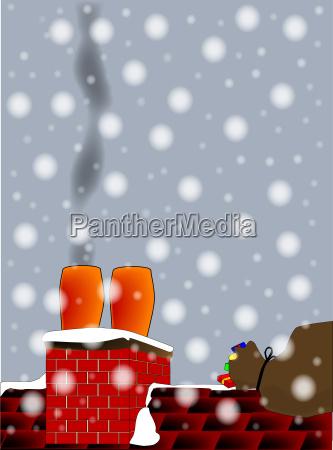 christmas chimney pots
