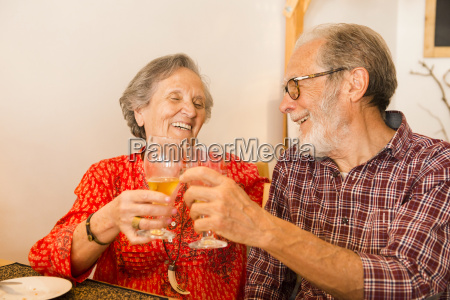 old couple at the restaurant