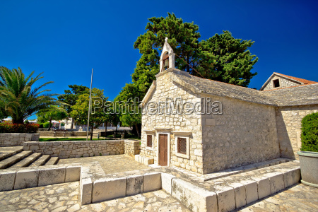 old stone chapel in primosten