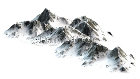 snowy mountains peaks isolated