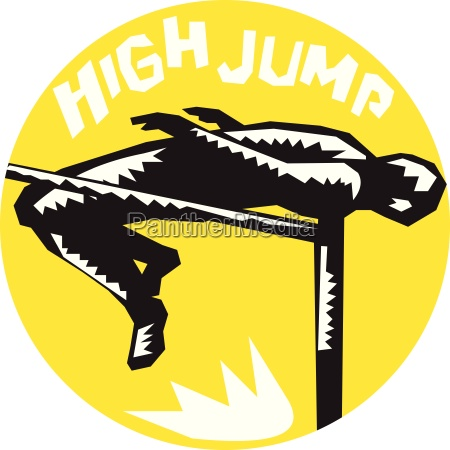 track and field athlete high jump