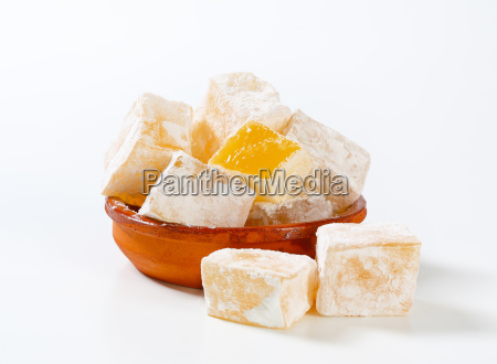 mastic flavored jelly cubes greek turkish