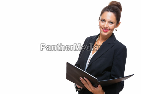 isolated business woman in the portrait
