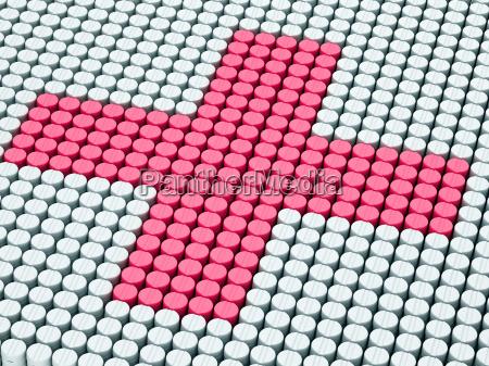 pills tablet cross