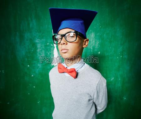 serious schoolboy