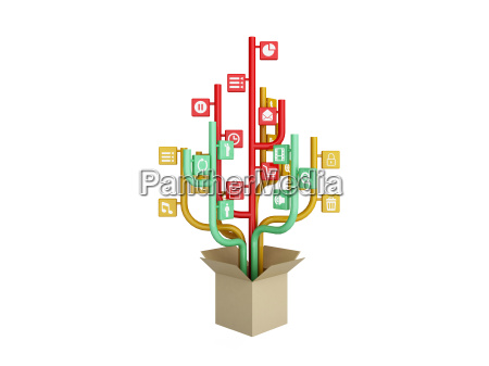 the tree consisting of the icons