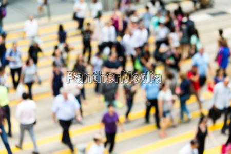 blur view of walking street